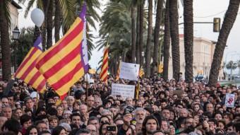 Manifestació a favor de la llengua catalana a les Illes Balears que es va fer a Palma de Mallorca el 25 de març del 2012 OCB