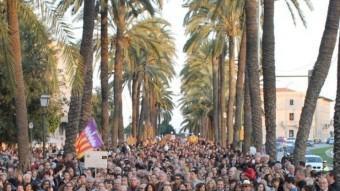 Manifestació a Palma contra el Tractament Integrat de Llengües del govern de José Ramón Bauzá ARXIU