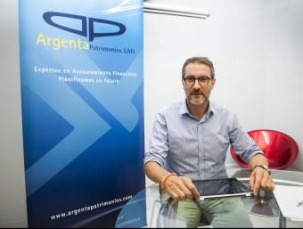 Albert Grau, soci fundador amb Joan Manuel Casanovas, d'Argenta Patrimonios.  JOSEP LOSADA