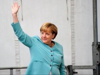 Les economies europees, com ara la de l'Alemanya d'Angela Merkel, funcionen millor.  ARXIU /FP