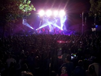 Imatge del Pomarock celebrat a la vila d'Agres. B. SILVESTRE
