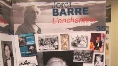 """Panel de l'exposició """"Jordi Barre l'Enchanteur"""""""