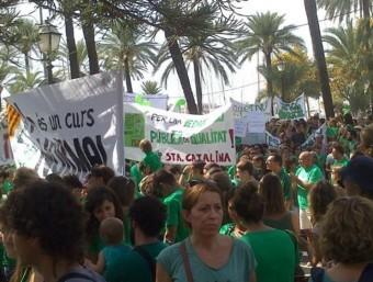 Manifestació dels mestres i la comunitat educativa de les Illes Balears contra el tractament integrat de llengües (TIL)