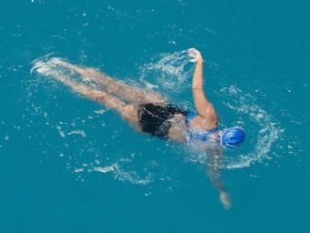 Diana Nyad, de 64 anys, va nadar els 166 kilòmetres que separen La Habana (Cuba) i Key West (Florida, EUA).  REUTERS