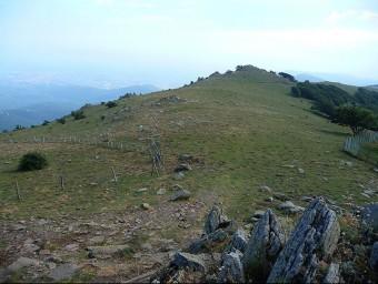 Carena fronterera del Puig Neulós on es trobaran caminants de Figueres i Perpinyà