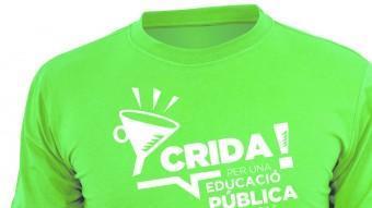 La samarreta de la Crida per una educació pública de qualitat, que ha tenyit de verd les últimes manifestacions a les Illes Balear