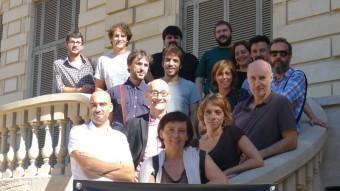 Autors i directors que participen al Torneig i a Primera Plana , ahir a Barcelona. T.ALTA