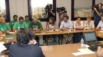 La reunió que han mantingut la Conselleria d'Educació, sindicats i l'assemblea de docents a Palma EFE