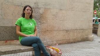 Maria Antònia Marroig, ahir a la sortida de la reunió amb el govern, a Palma R.G.A