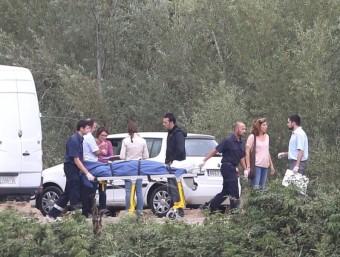El cadàver de la víctima , de nom Youssef, va ser trobat divendres per una veïna que passejava el gos. El cos estava al riu Muga, a Castelló JOAN CASTRO / ICONNA