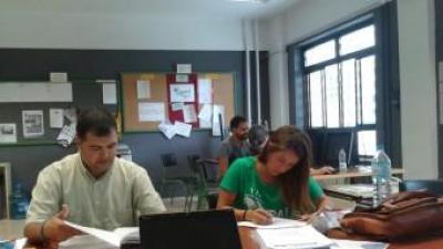 Mestres en vaga el 3 d'octubre passat a l'IES Josep Maria Llompart de Palma RAÜL GARCIA