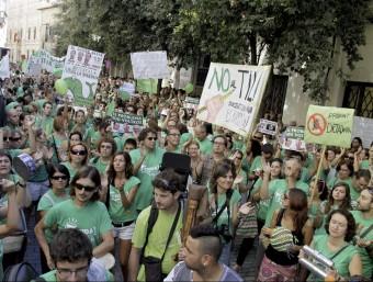 Una de les concentracions a Palma contra el decret TIL de trilingüisme escolar EFE