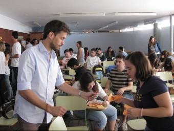 Una de les sessions del Tarracolab a l'Escola d'hoteleria de Cambrils.  M.R.C