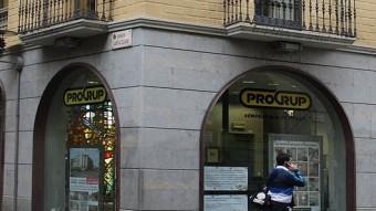 La façana de les instal·lacions de Progrup, al carrer Sant Francesc. L.SERRAT