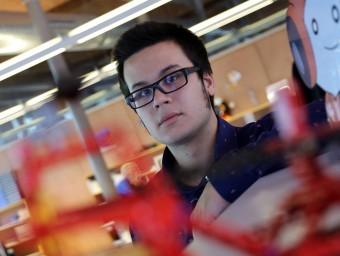 Enrique Cuevas, cofundador de Gamiweb, al Citilab de Cornellà.  QUIM PUIG