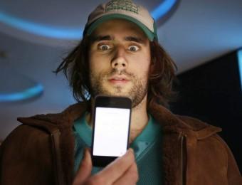 Pablo Larcuen a Sitges, on ha presentat 'Hooked up', rodat amb un Iphone S. SÁEZ / EFE