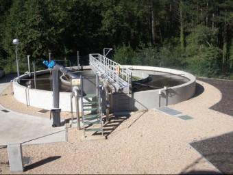 Aspecte d'una part de les instal·lacions de la nova depuradora que l'ACA ha posat en funcionament al terme municipal de Vidreres. EL PUNT