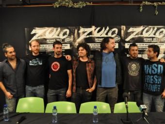 Els membres de Zulo, ahir a Figueres PROMO ARTS MUSIC