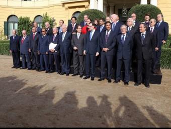 Assistents al Primer Fòrum Econòmic del Mediterrani Occidental, al Palau de Pedralbes de Barcelona aquest mes.  ARXIU /JUANMA RAMOS