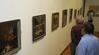 L'exposició retrospectiva sobre Pep Colomer, inaugurada ahir, es pot visitar al Museu d'Art de Girona. MANEL LLADÓ