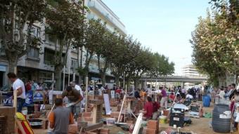 Setze parelles de parelles participaven ahir al concurs de paletes que s'organitza tradicionalment durant les fires de Girona E. C