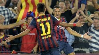Neymar i Alexs, contents LLUÍS GENÉ