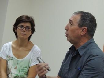 Marta Signes i Joan Baldoví en una activitat de Compromís. EL PUNT AVUI