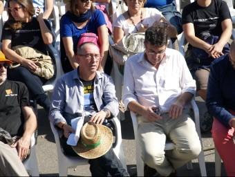 Joan Baldoví i Enric Morera a l'Aplec del Puig de diumenge passat. ESCORCOLL