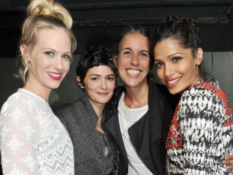 Isabel Marant amb January Jones, Freida Pint i Audrey Tautou amb H&M