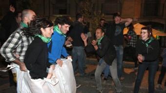 Les Olimpíades Populars, que ahir a la tarda es van celebrar a la plaça Sant Pere LLUÍS SERRAT