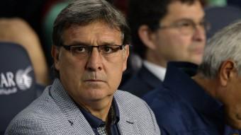 Martino, durant el derbi LLUÍS GENÉ / AFP