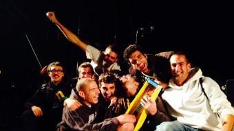 Exèrcit d'Alliberament Musical, després de rebre el premi LINK PRODUCCIONS