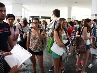 Proves de selectivitat del juliol passat a la UPV. EL PUNT AVUI