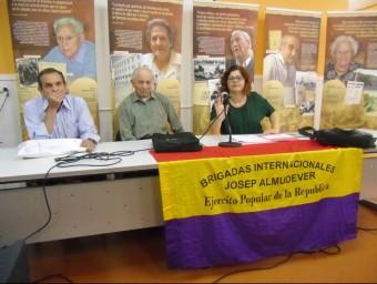 D'esquerra a dreta, Toni Simó, José Almudever i Fini Alcolea . CEDIDA