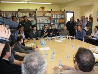 Reunió d'alcaldes de la zona afectada JOAN PUNTÍ