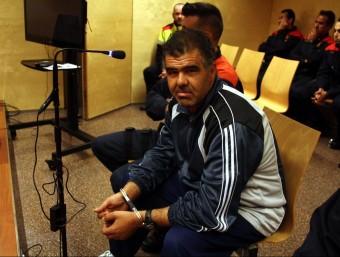 Miguel Ángel Moreno, ahir abans de declarar ACN