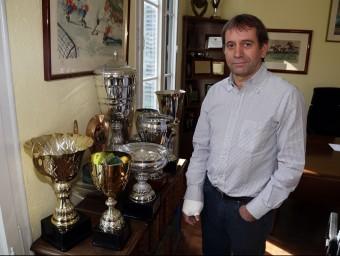 Ramon Basiana, a la seu de la federació catalana a Barcelona. JUANMA RAMOS