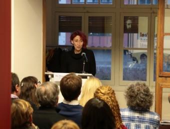 La jornada d'ahir a Girona va incloure una conferència de Margarida Casacuberta a la Casa Masó MANEL LLADÓ