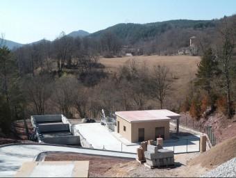 La depuradora de Font Rubí, una de les posades en marxa mesos després d'acabar-se. J.C
