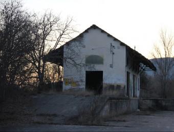 Un magatzem de l'estació de Salàs de Pallars, que està abandonada. D.M