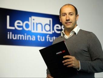 Javier Moreno, CEO de Disgol Group, a la seu de l'Hospitalet de Llobregat.  QUIM PUIG