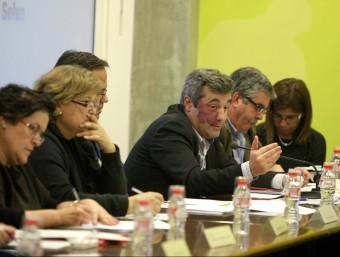 Joaquim Torrecillas, en l'exposició del pressupost del consell pel 2014. LLUÍS SERRAT