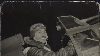 Josep Falcó va abatre un avió alemany en el darrer combat aeri que va tenir lloc en el cel de Catalunya, a Vilajuïga. FONS FALCÓ