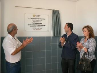 David González en la inauguració d'una ñosta sanitària aquesta estiu passat. EL PUNT AVUI