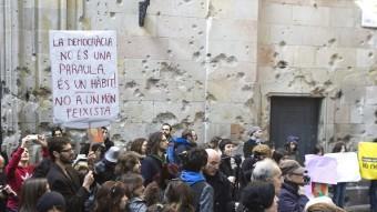 Concentració d'AltraItalia l'any 2011 per recordar els atacs de les forces feixistes italianes a Barcelona R.RAMOS