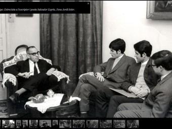 Salvador Espriu, entrevistat per Presència als anys 60, en una imatge del web JOR5DI SOLER