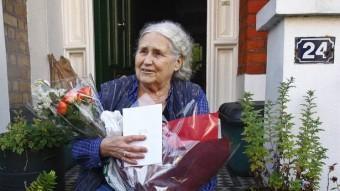 Doris Lessing a la porta de casa seva el 2007 L. PITARAKIS /AP