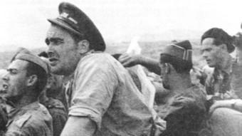 Enrique Líster en plena acció durant la Guerra Civil, on va ser una de les figures importants de la resistència republicana