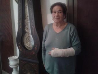Rafaela Heras, va acabar amb el braç trencat GISELA PLADEVEYA