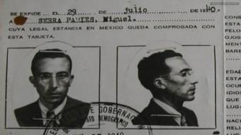 Visat d'entrada a Mèxic de Miquel Serra i Pàmies, quan va aconseguir arribar-hi, el 1940. ARXIU GUILLEM MARTÍ